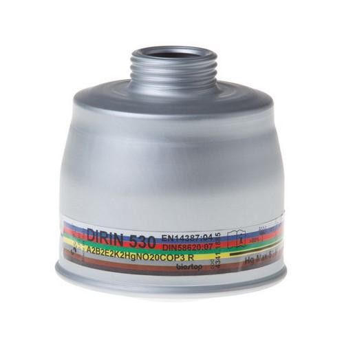 Combined fIlter for full face masks DPI Sekur, DIRIN 530 A2B2E2K2HgNO20COP3 R