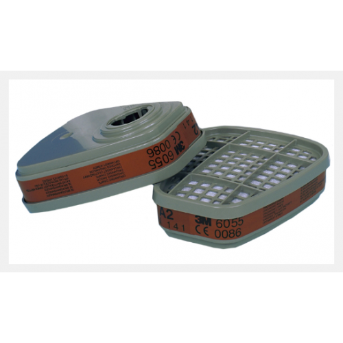 Gas & Vapour filter A2 3M, mod. 6055