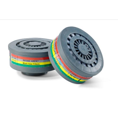 Gas & Vapour filter ABEK1 for twin mask BB3000, mod. BB3000ABEK