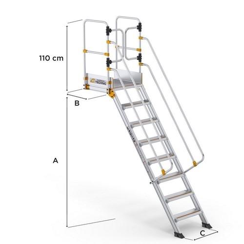 Large Step Platform Ladders CAGSAN, mod. LSPL