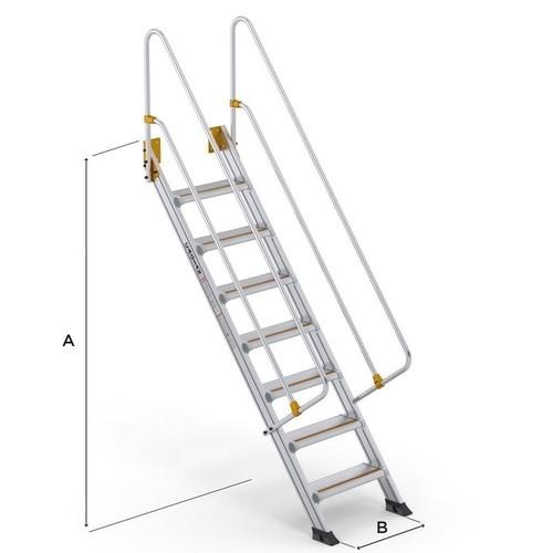 Large Step Ladders CAGSAN, mod. LSL