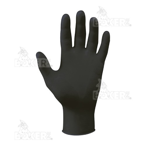 Disposable nitrile gloves NERI, BOXER series, mod. DarkNit (393038)