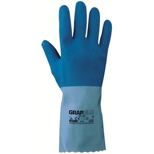 Latex gloves NERI, mod. GRAP BLU