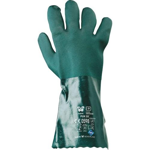 Safety gloves NERI, MAC-TUK series, mod. PVC VERDE 35