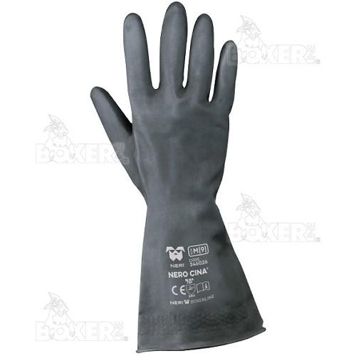 Latex gloves NERI, BOXER series, mod. Nero Cina (346026)