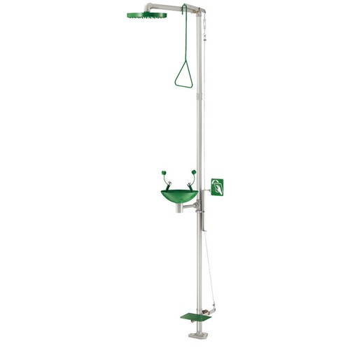 Combination first-aid shower eyewasher for outdoor-indoor use ECOSAFE, mod. DLP64